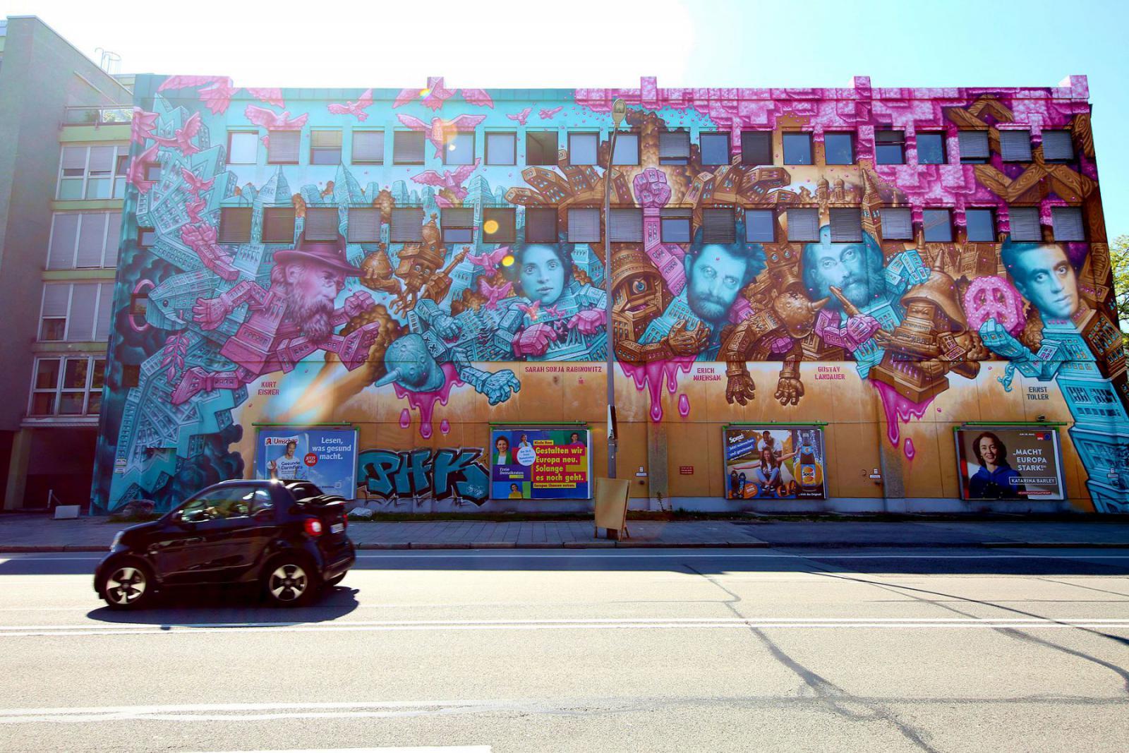München is pionier van de street art; overal in de stad kom je het tegen   Credit: Sigi Mueller