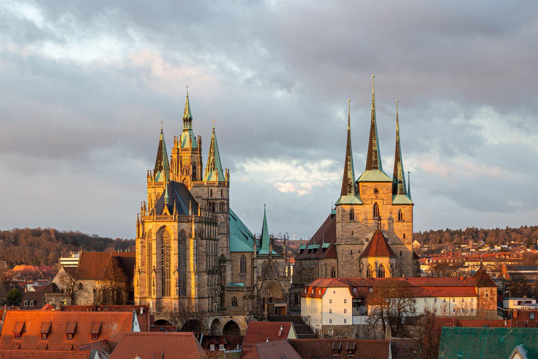 Het middeleeuwse centrum van Erfurt