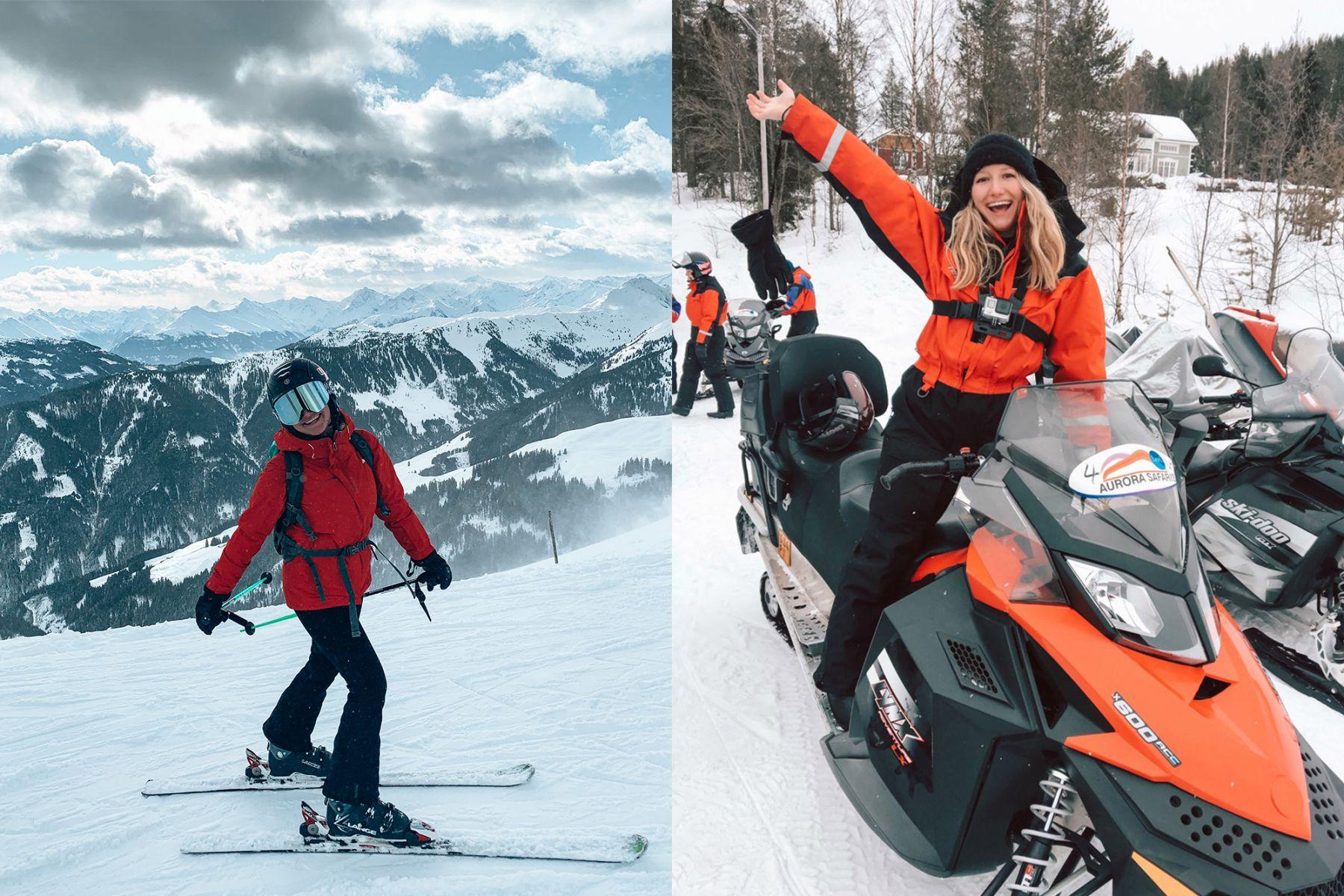 Op wintersport in Oostenrijk