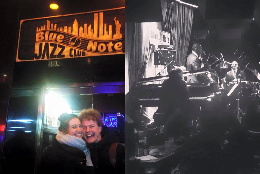 Photo: Jazz Club the Blue Note in New York. Credits: Vicky de la Cotera Manrique