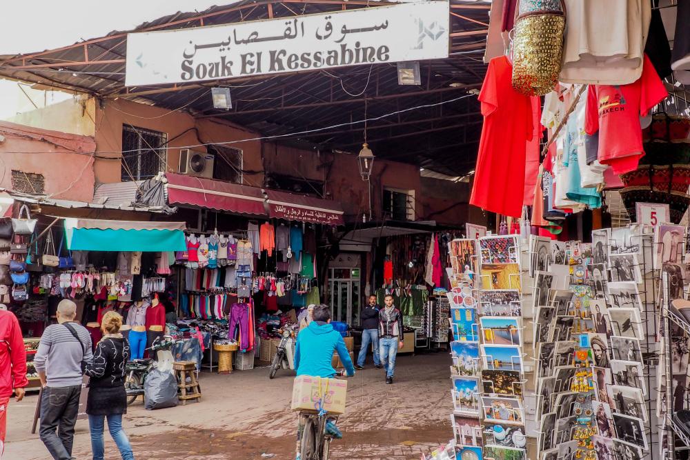 Shoppen in Marrakech - beeld: Ellis Aten