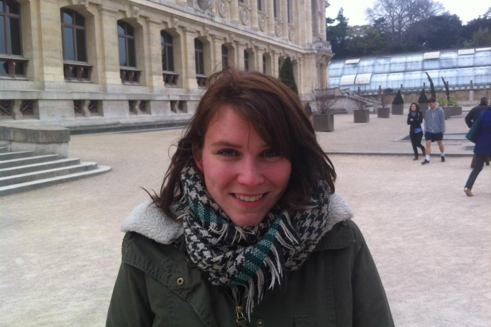 Stephanie in Parijs. Beeld: Stephanie Versteeg