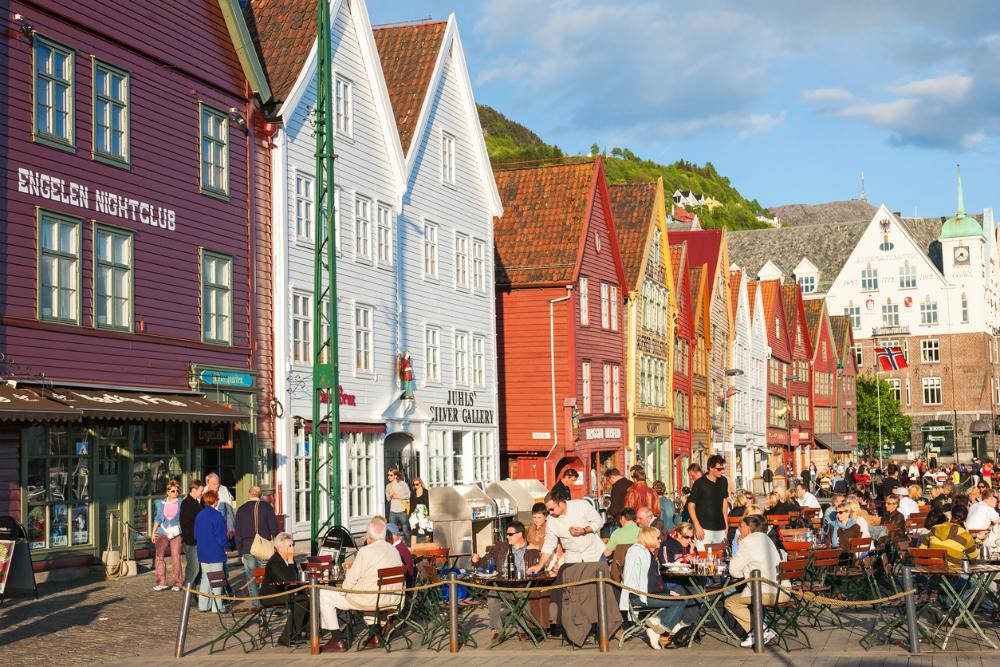 Bergen in Noorwegen. Beeld: TT (iStock)