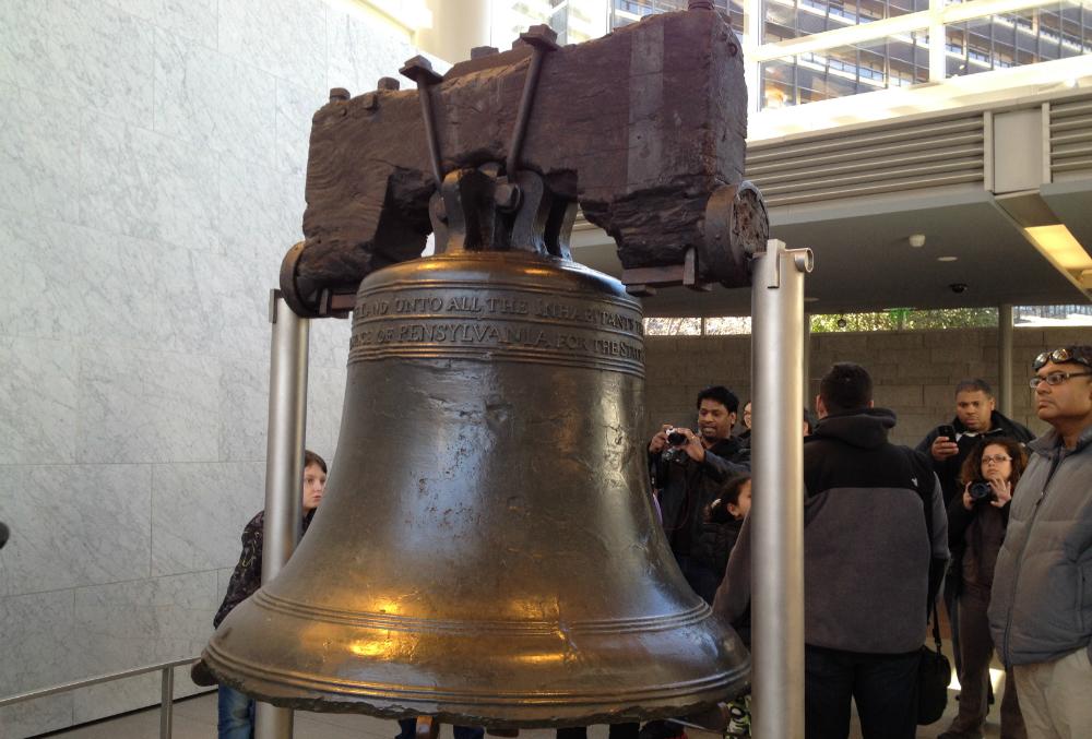 Liberty Bell in Philadelphia. Beeld: Robert Langeveld