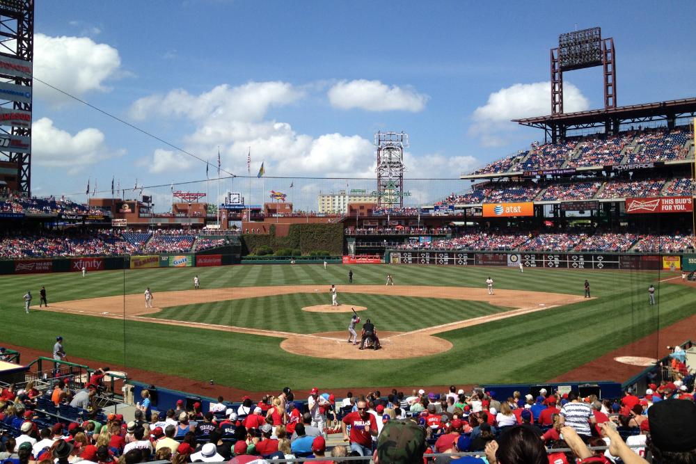 Honkbal in Philadelphia. Beeld: Robert Langeveld
