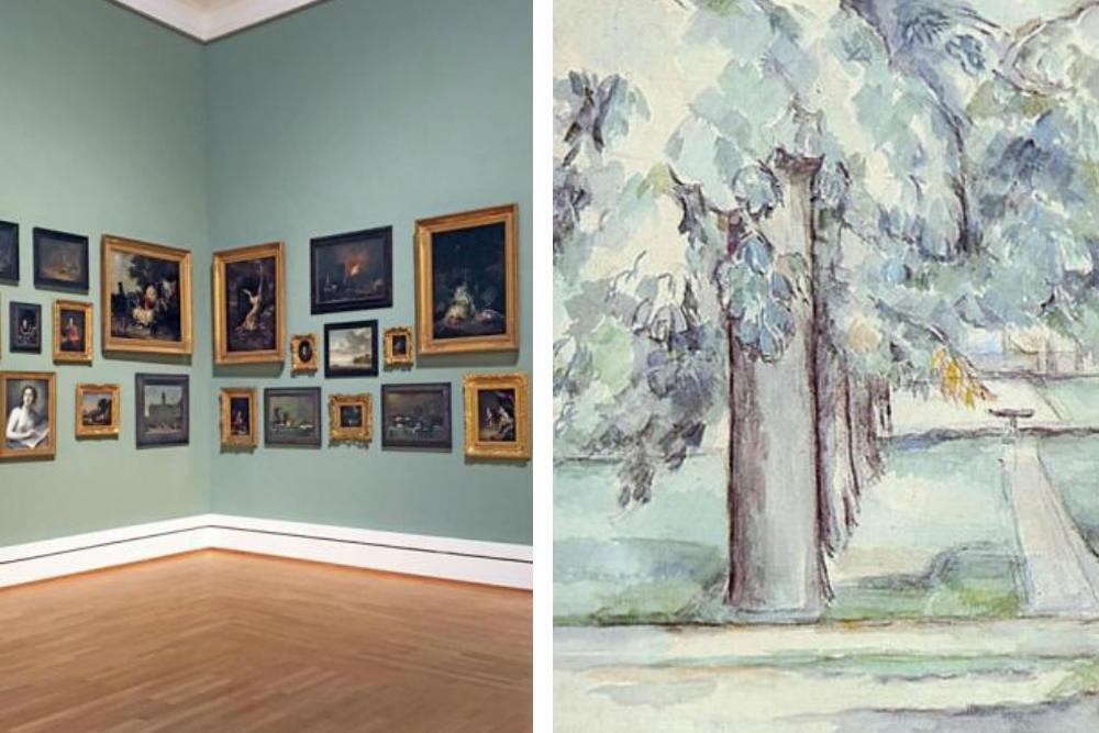 Foto van de Staatliche Kunsthalle Karlsruhe waar de expositie van Paul Cézanne vanaf oktober centraal staat