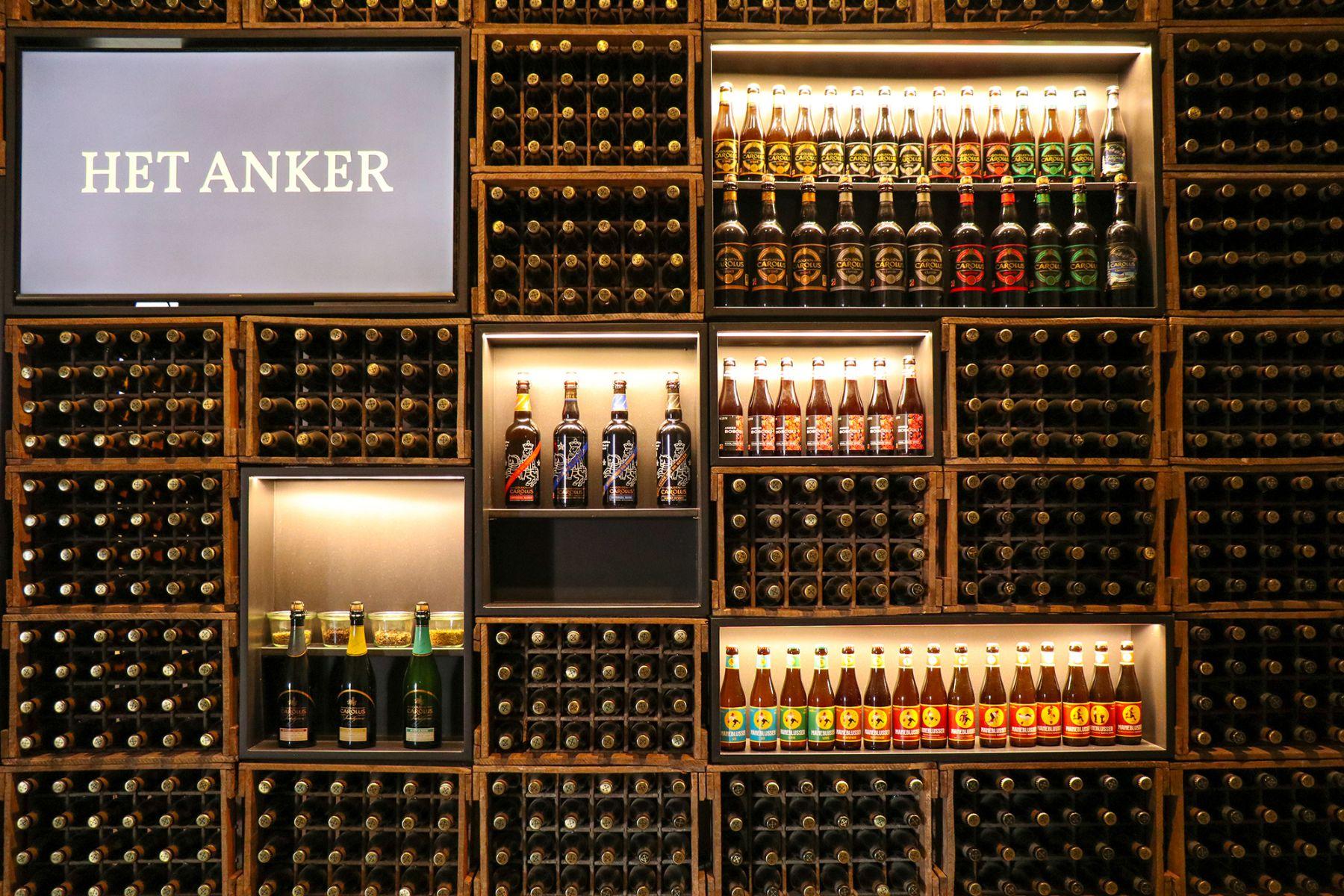 Muur met verschillende biertjes uit Mechelen | credit: CityZapper - Bianca van der Ham
