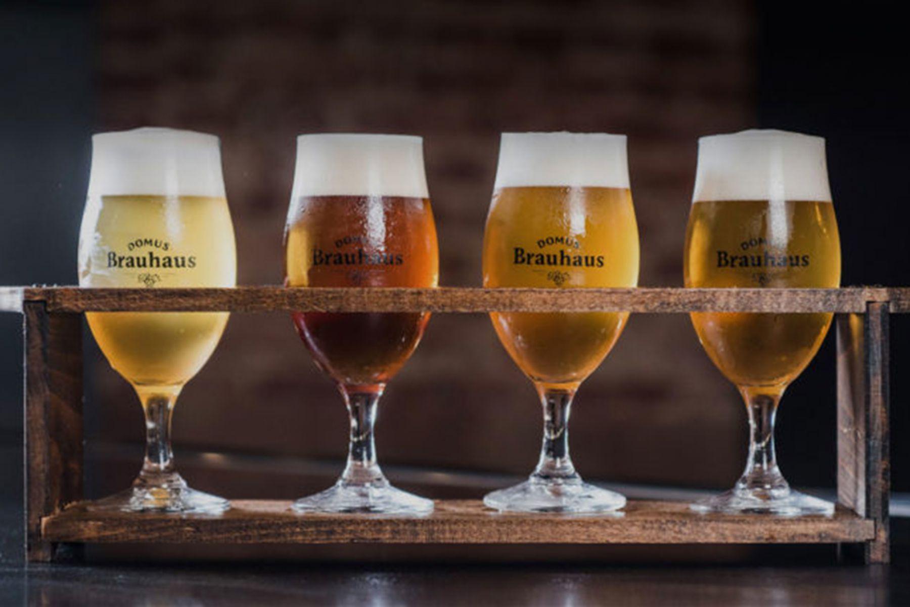 Proefbedje met biertjes van Domus | credit: Brauhaus Domus