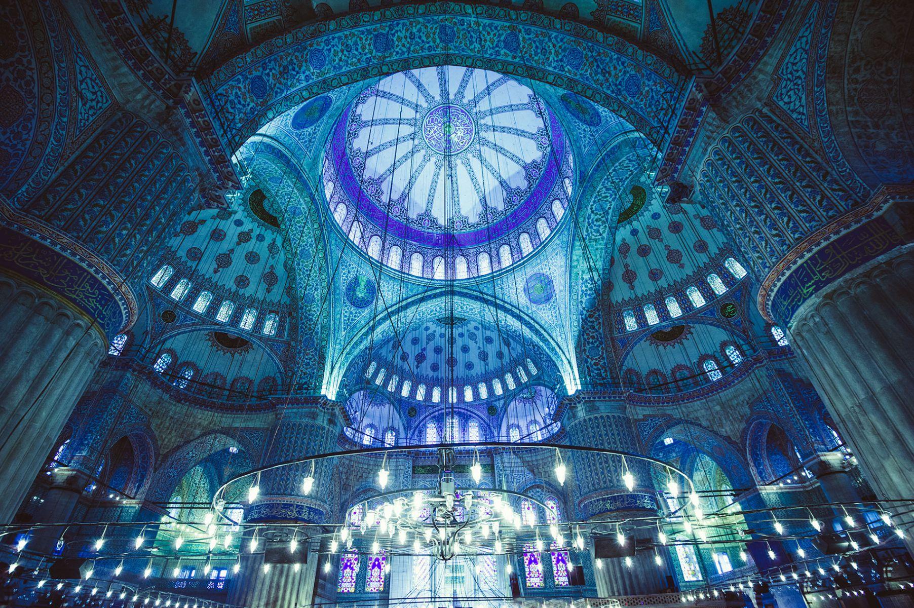 Sultan Ahmetmoskee, de Blauwe Moskee in Istanbul, Turkije. De bekendste bezienswaardigheid van de stad