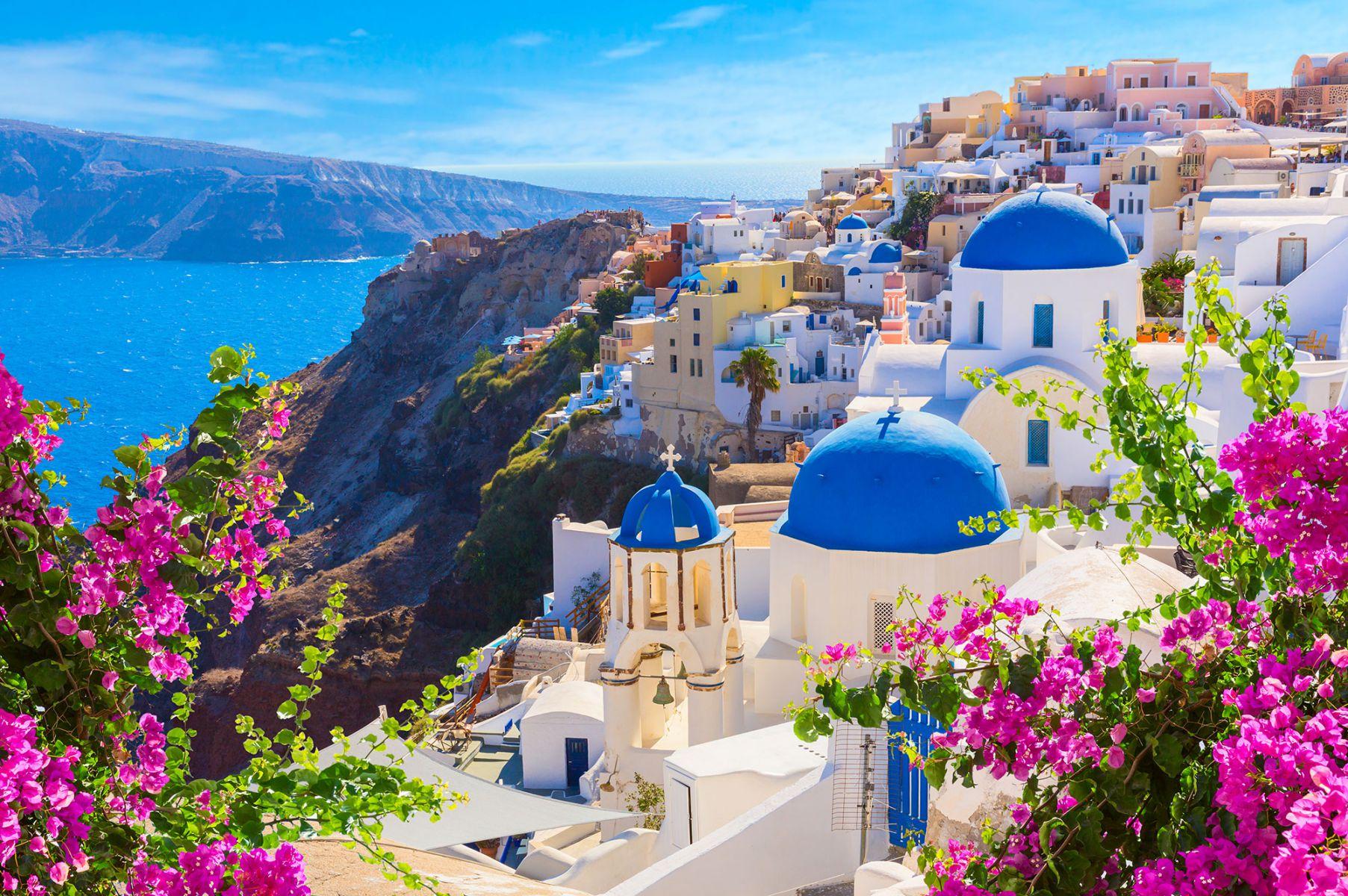 Het kleurrijke eiland Santorini in Griekenland