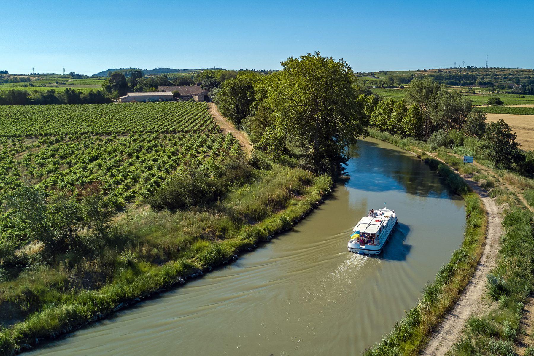Canal du Midi stroomt door tot de Middellandse Zee | Beeld: JaySi