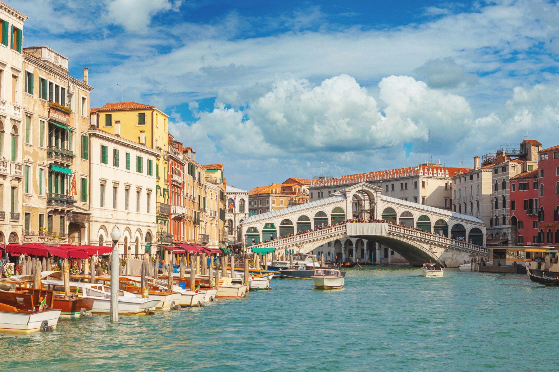 Uitzicht Rialtobrug Venetie