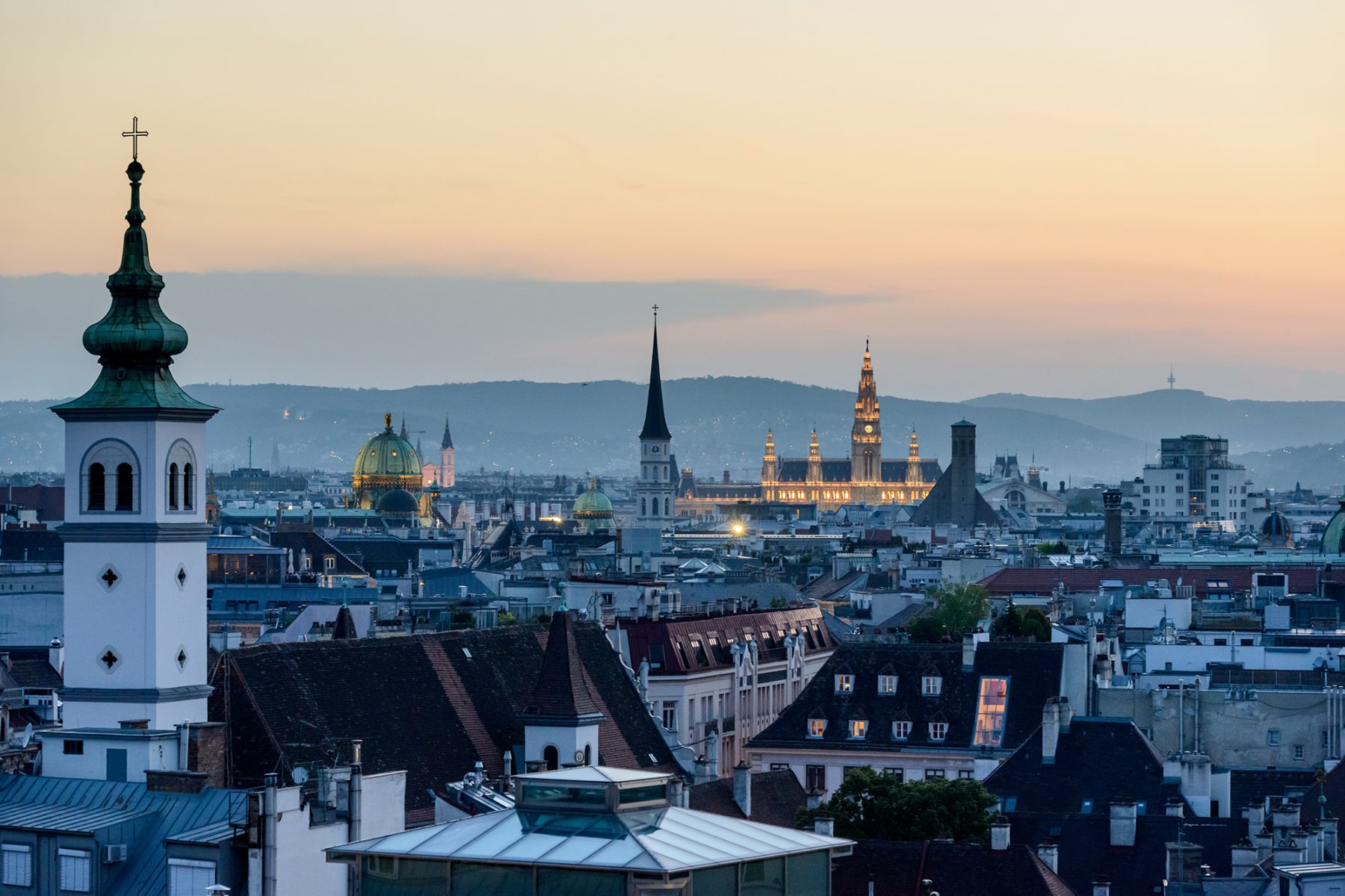 Uitzicht over Wenen