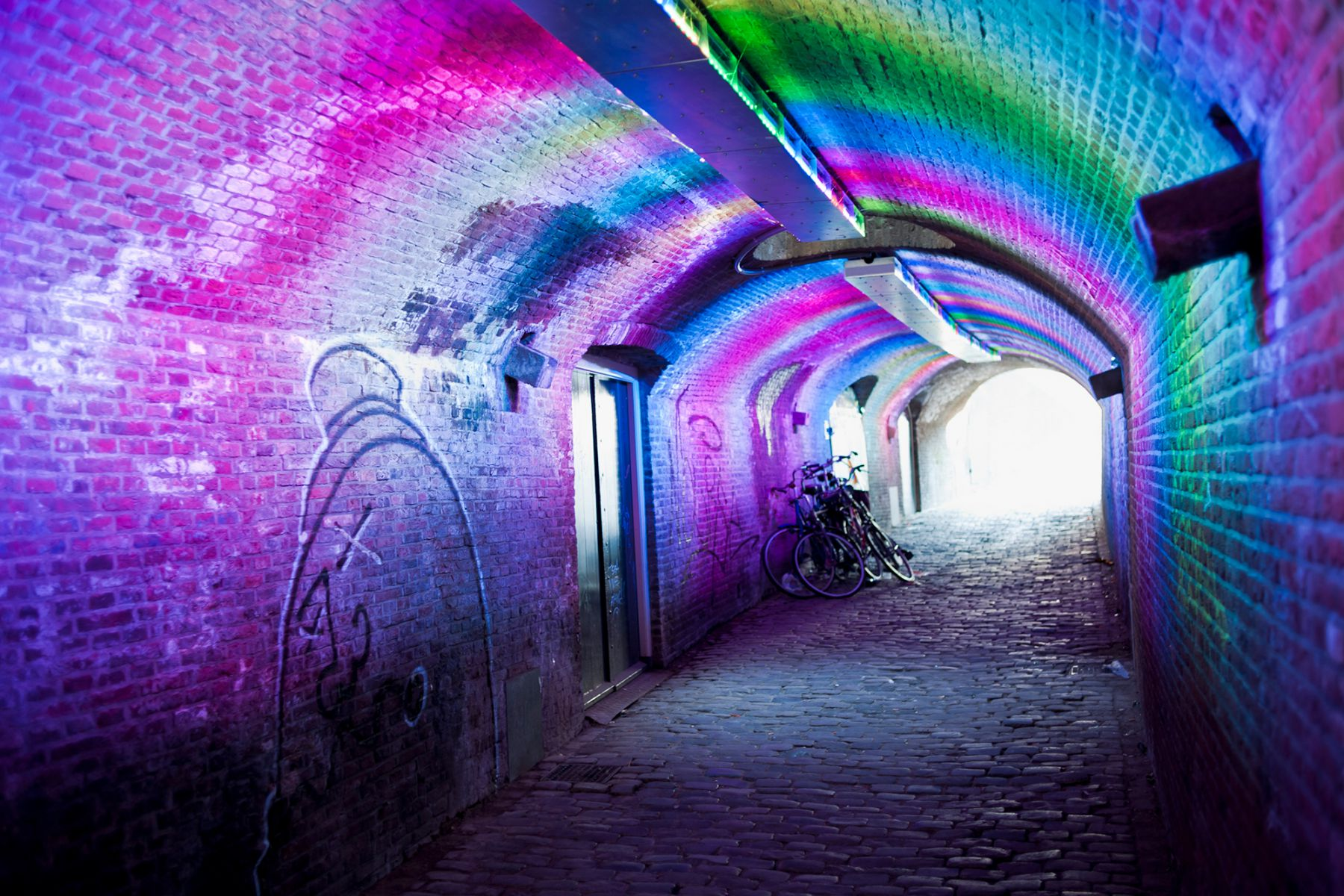 De tunnel van de Ganzenmarkt