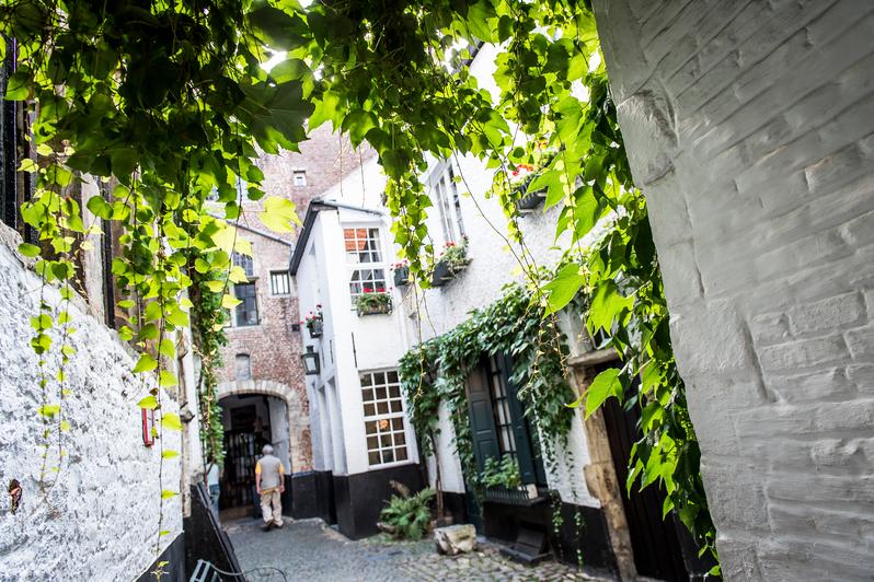 De geheime straat vlaeykensgang in Antwerpen