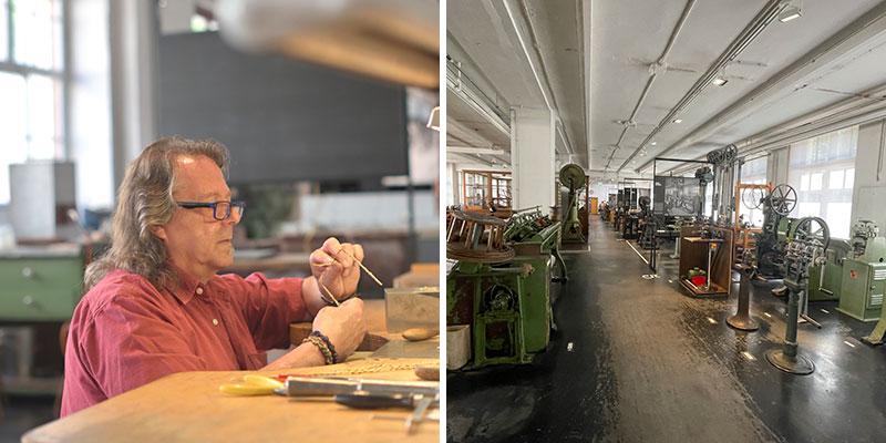 Foto van Technisches Museum in Pforzheim | Credit foto links: Kasper Mols - Credit foto rechts: CityZapper - Bianca van der Ham