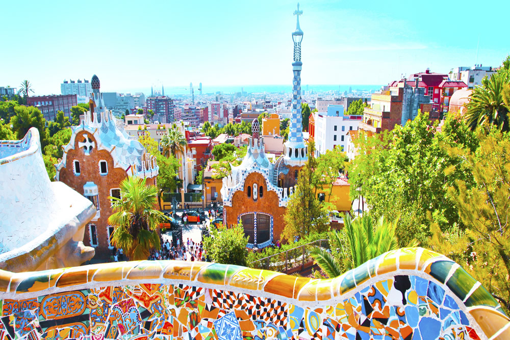 Park Guell in Barcelona. Beeld: Thinkstock