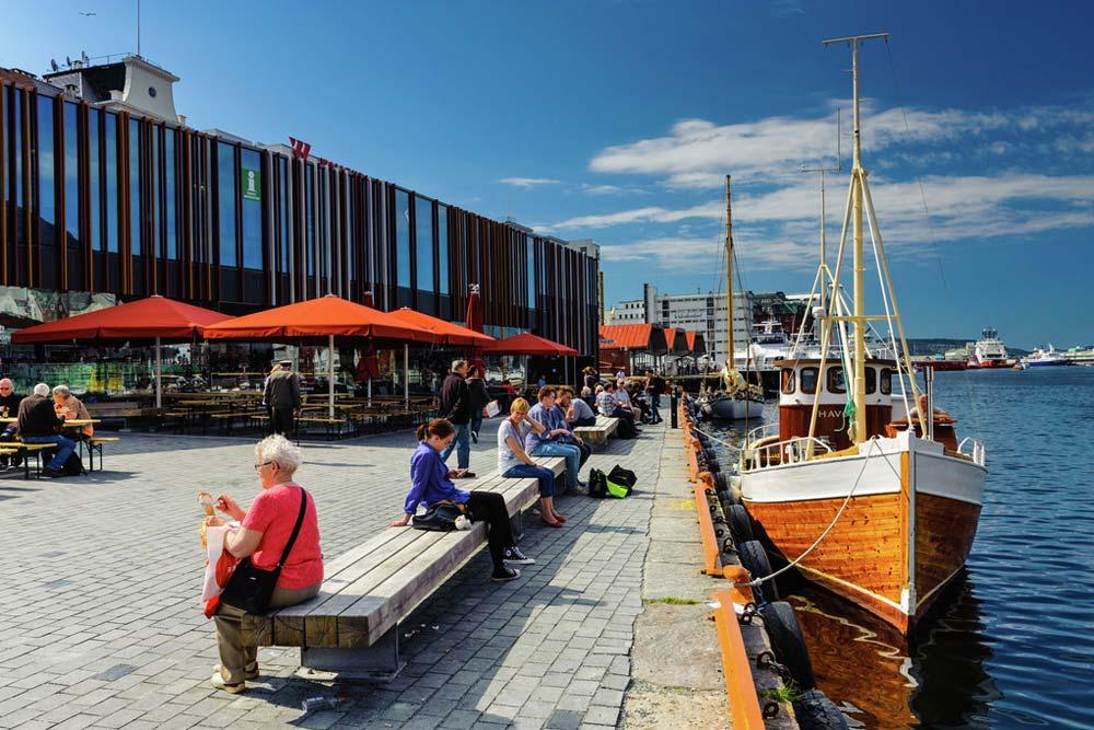 Informatiecentrum voor toeristen in Bergen. Beeld: Robin Strand (Bergen Tourist Board)