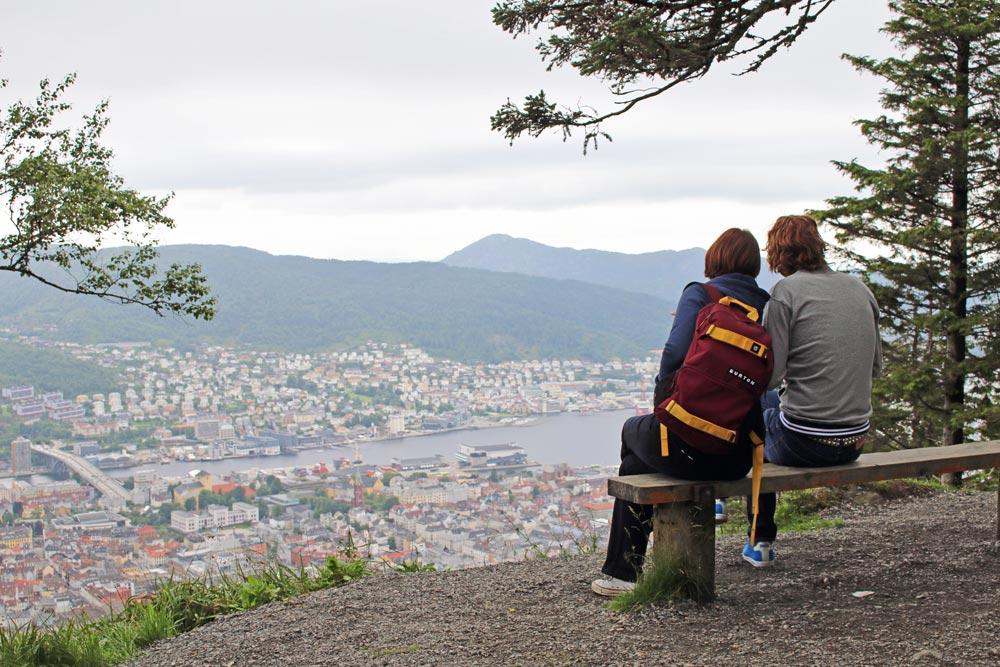 Bewandel de berg Fløyen in Bergen. Beeld: Bianca van der Ham - CityZapper