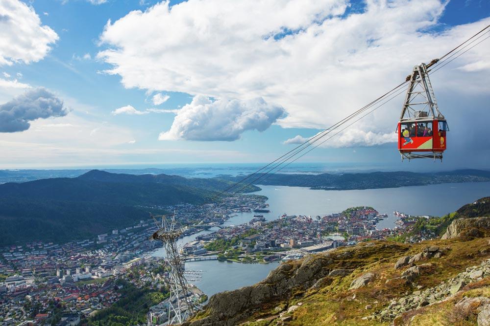 Berg Ulriken in Bergen. Beeld: Espen Haagensen (Bergen Tourist Board)