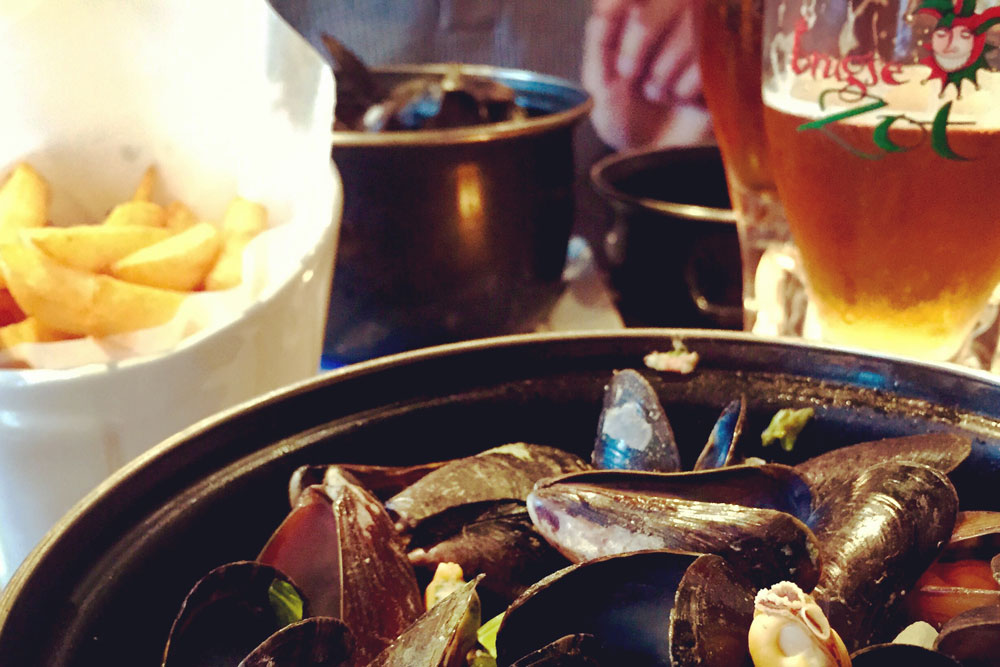 Restaurant Poules Moules in Brugge. Beeld: Bianca van der Ham - CityZapper