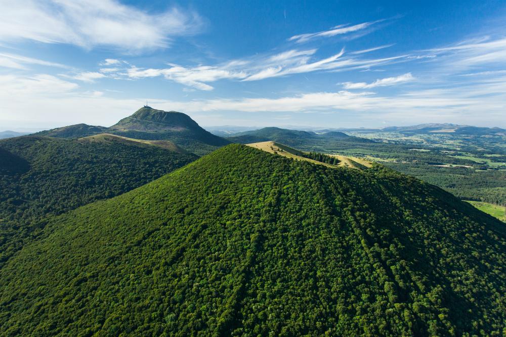 Puy de Dôme. Beeld: Comité Régional de Développement Touristique d'Auvergne - CORMON-Francis