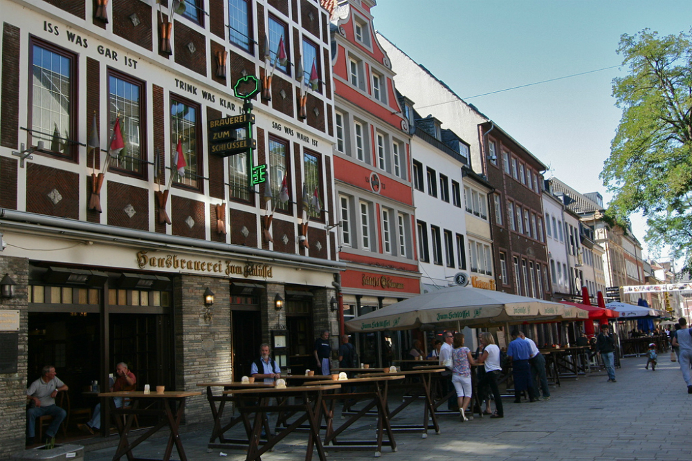 Bolkerstrasse. Beeld: Citanova Düsseldorf (Flickr)