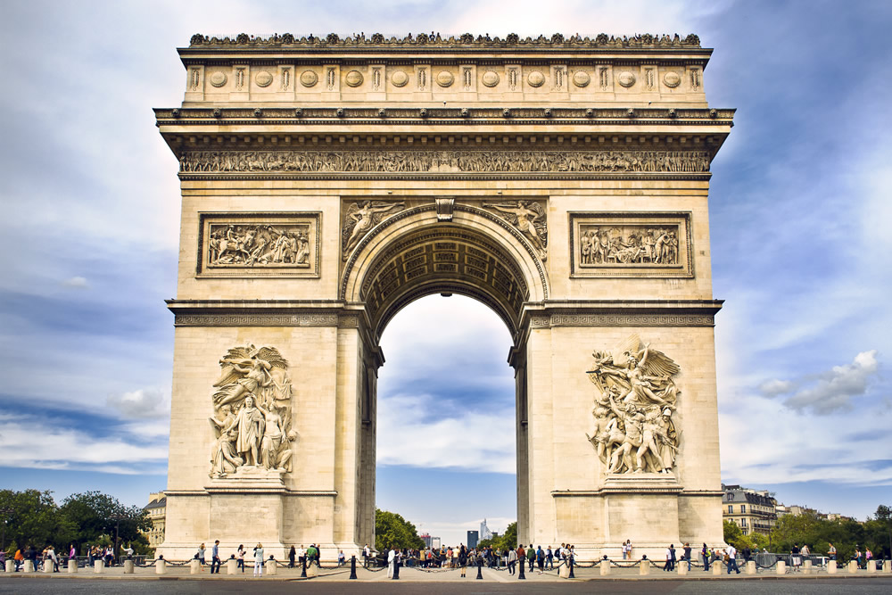 Arc de Triomphe in Parijs. Beeld: Thinkstock