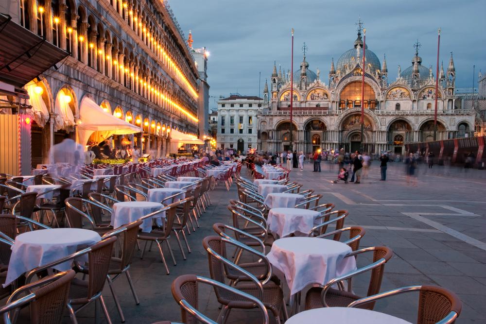 San Marcoplein in Venetië. Beeld: ClaudioStocco (iStock)